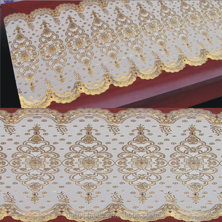 50 cm * 20 m largo de encaje de oro/plata de vinilo de PVC ganchillo ...