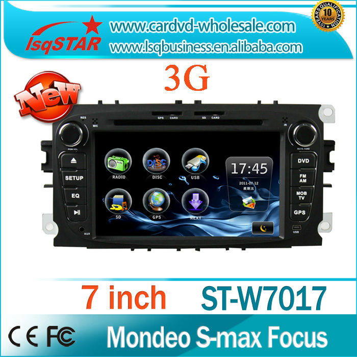 LSQ Star Android 4.0 Ford Mondeo/Tourneo/Transit/S-max(2008-2010) Car DVD Player GPS Navigation with 3G port WiFi dongle