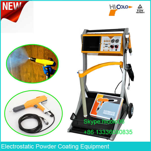 Electrostatic Enamel Powder Coating Gun Set Working with Powder Spray Paint Booth