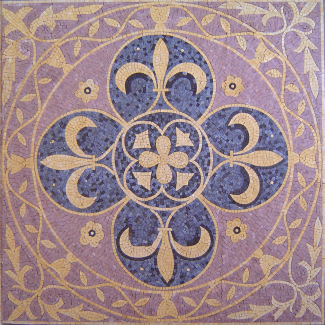 Factory Directly High Quality Tile Round Mosaic Medallion Floor Patterns for wholesale