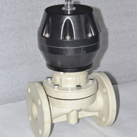 China made cheap price high quality PPH fange connection pneumatic diaphragm operated valve