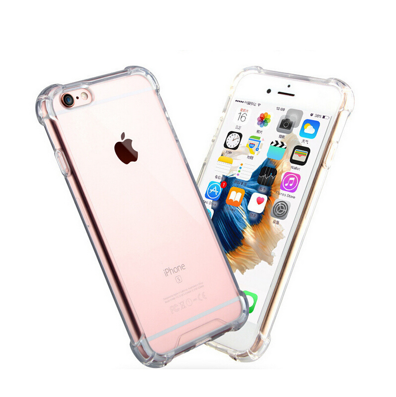 For iphone 6s case, Shockproof Clear hybrid TPU PC case for iphone 6s