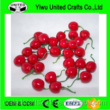 cheap wholesale artificial fruit fake cherry for decoration from China factory