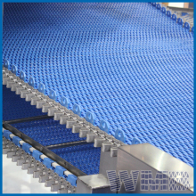 Food Grade pvc Curve modular plastic conveyor belt