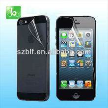 tft lcd clear screen protector for iphone 5s with factory price