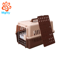 Rolling Plastic Airline Approved Wire Door Travel Dog Crate Plastic Kennels