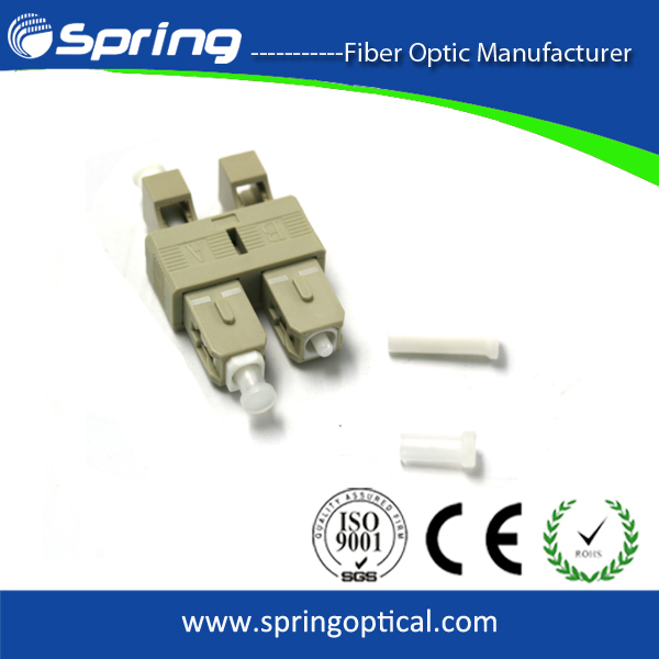 LC Female To SC Male Multimode Duplex Fibra Hybrid Adapter 50/125.