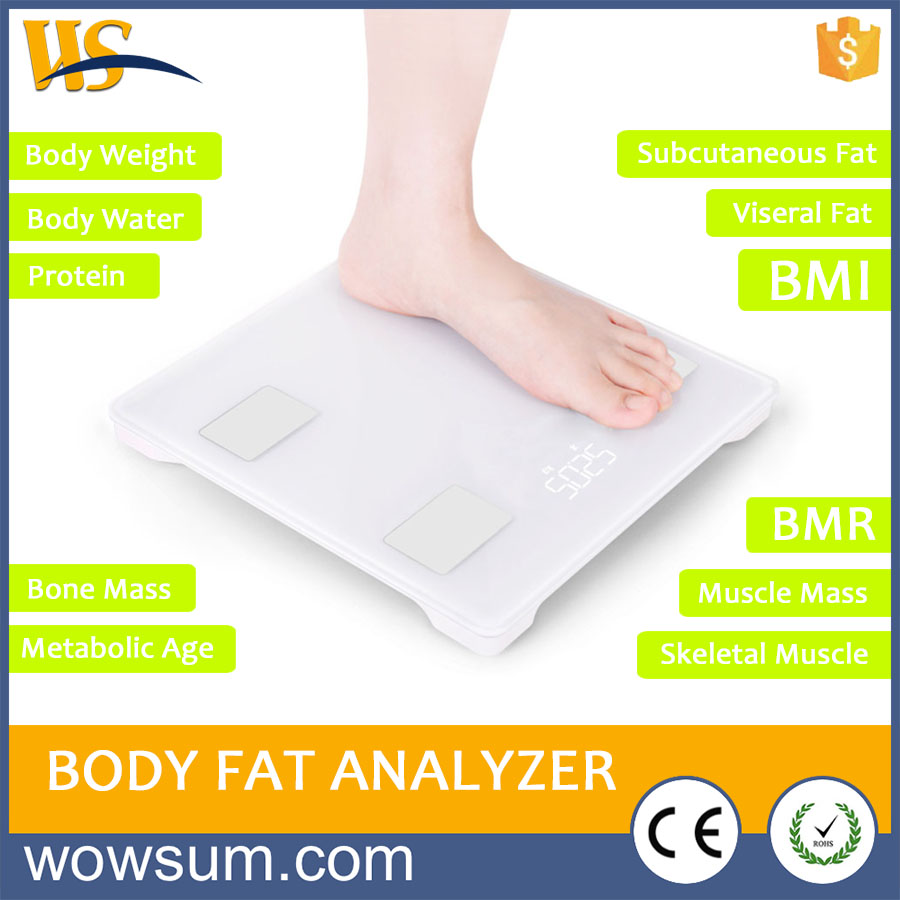 House used new electronic scale Muscle hydration level bmi body fat scale