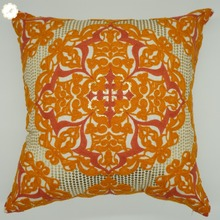 New design bright colorful flower pattern Chinese embroidered cushion cover, lidl cushion