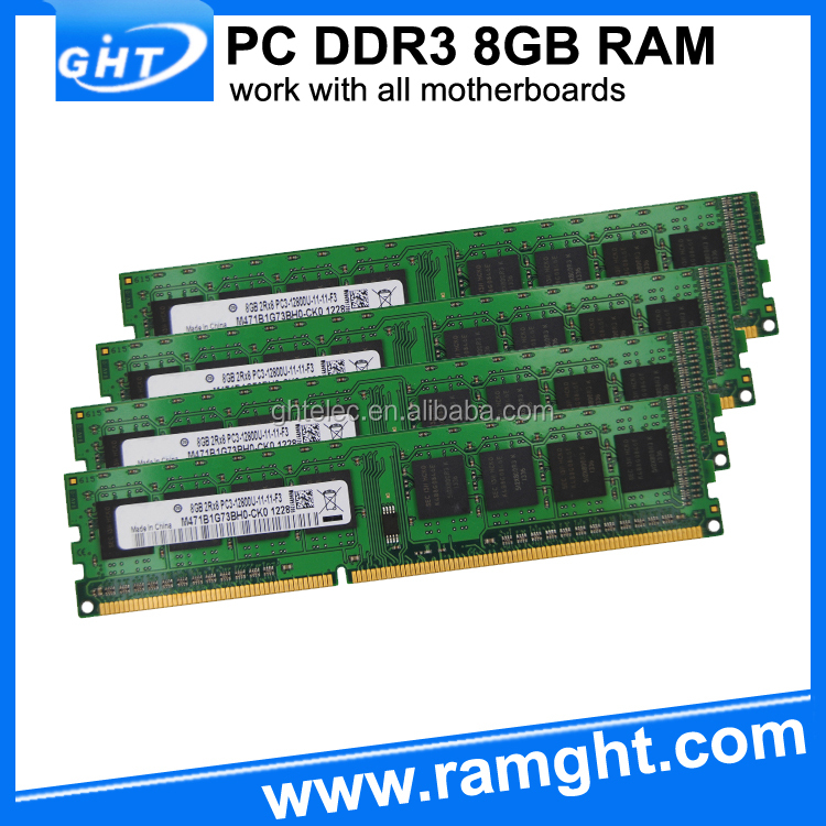 Low Density Memory 32GB 4X8GB DDR3 1600Mhz DIMM Memoria Ram For DDR3 PC3-12800 Desktop