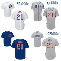 2015 New Arrival # 21 Sammy Sosa Jersey Stitched Chicago Cubs Baseball jerseys Embroidery cheap authentic sport Majestic Jersey