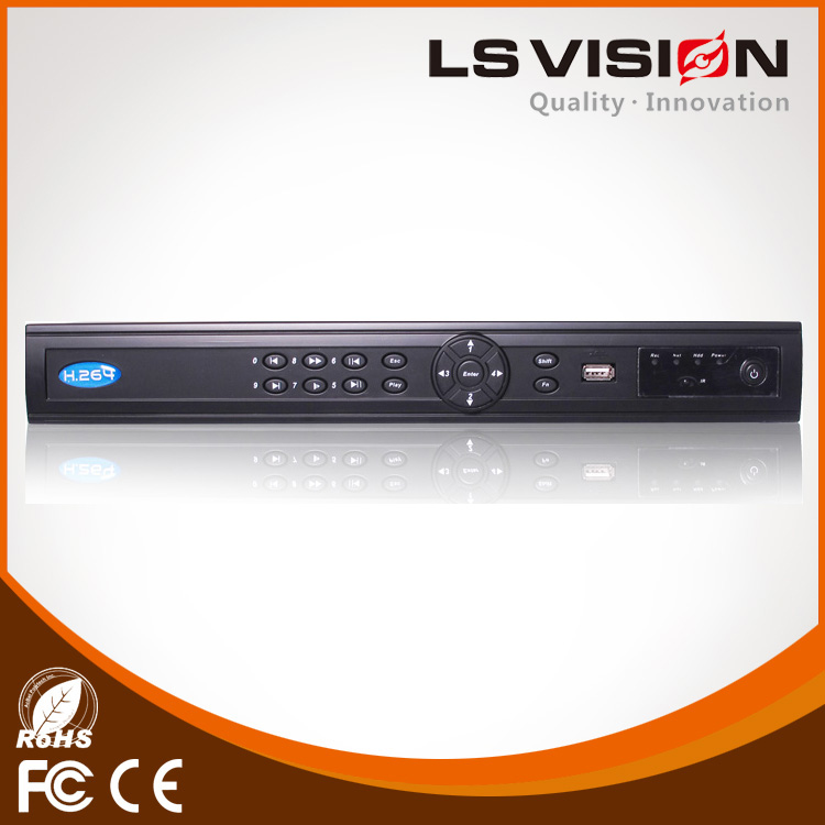 LS VISION nvr h264 real-time 16ch 1080p video recorder support input 8CH Alarm Input and 3CH Alarm Output p2p Digital Recorder