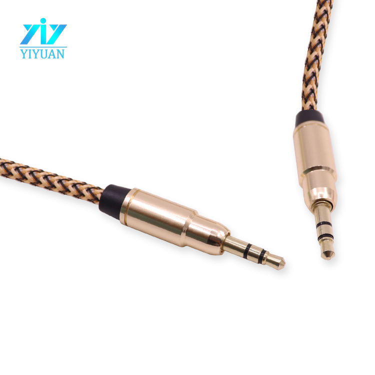 Оптовые продажи OEM/ODM 3.5 мм Нейлон Плетеный 3.5 мм Аудио Кабель Аудио Разъем Stereo AUX Кабель