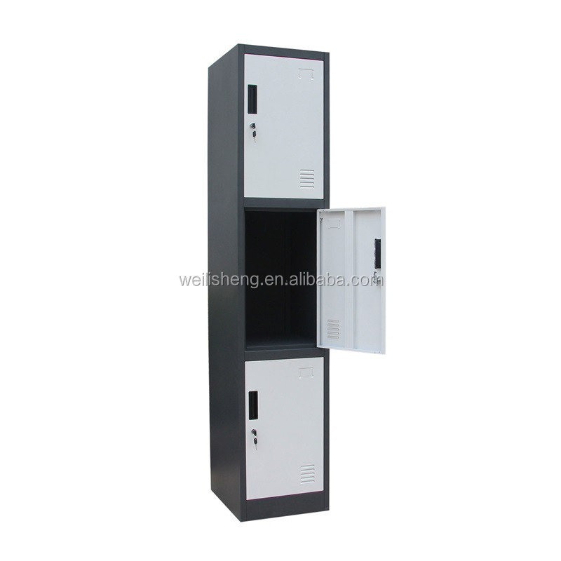 3 tier salon steel lift/slim steel staff locker with inside drawers/green 3 door steel godrej locker corner wardrobe