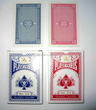 55 small paper playing cards