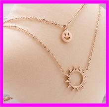 KDA4852 Fashion Stainless steel sun Pendants For Necklaces Without Stone