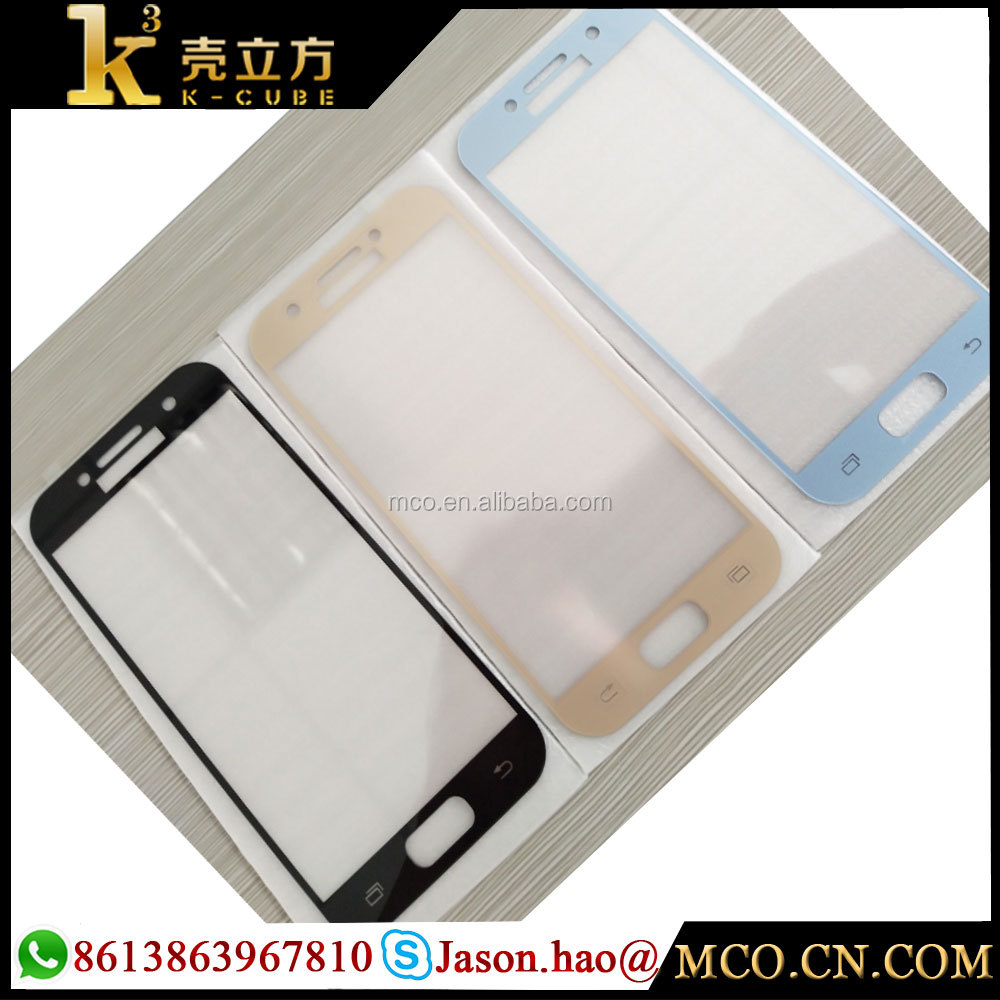 0.33mm Asahi glass material Tempered glass screen protector for Galaxy A3 Black