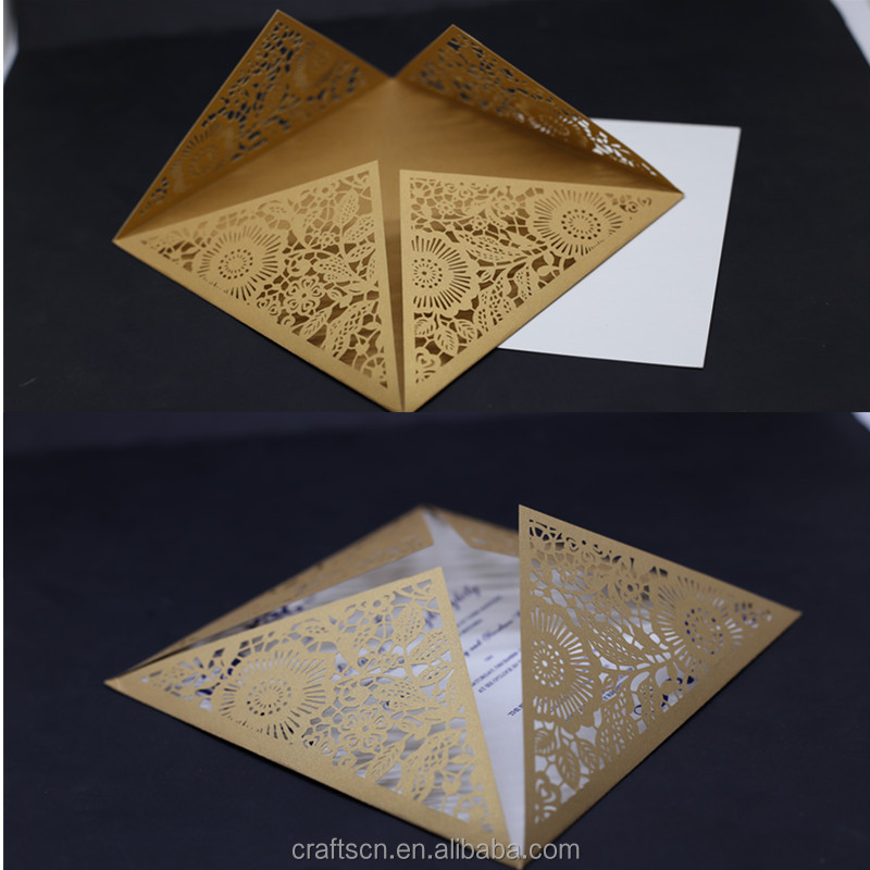 Laser cut Printed Wedding Invitations wording