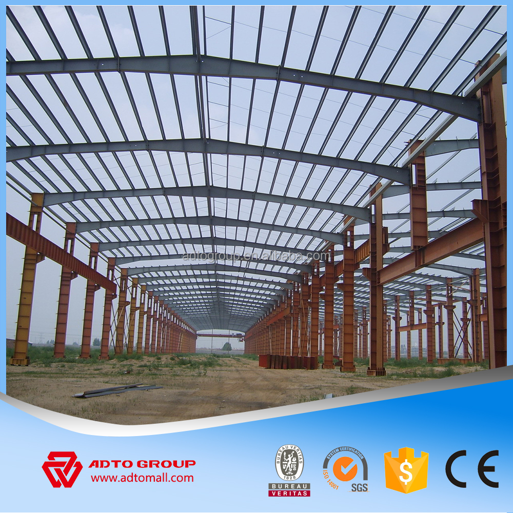 Steel shade structure design warehouse steel support for Steel shade structure design
