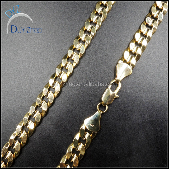 yiwu factory custom wholesale men's hot sale hip hop gold cuban necklace men chain necklace men