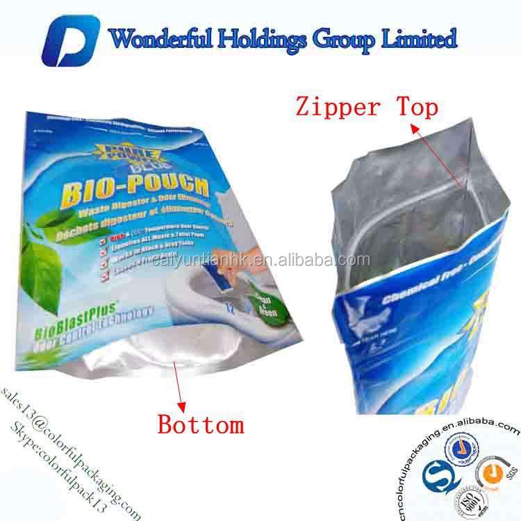 Stand up with zipper bags Waste Digester Odor Eliminator Packaging Odor Eliminator