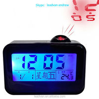 Sound Control Projector Clock , Talking Clock Projector Clock With Blue Led Backlight