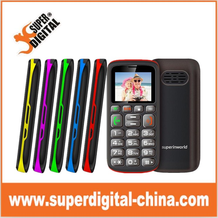 1.8 inch cheap senior phone, unlock bar phone with SOS and big keypad