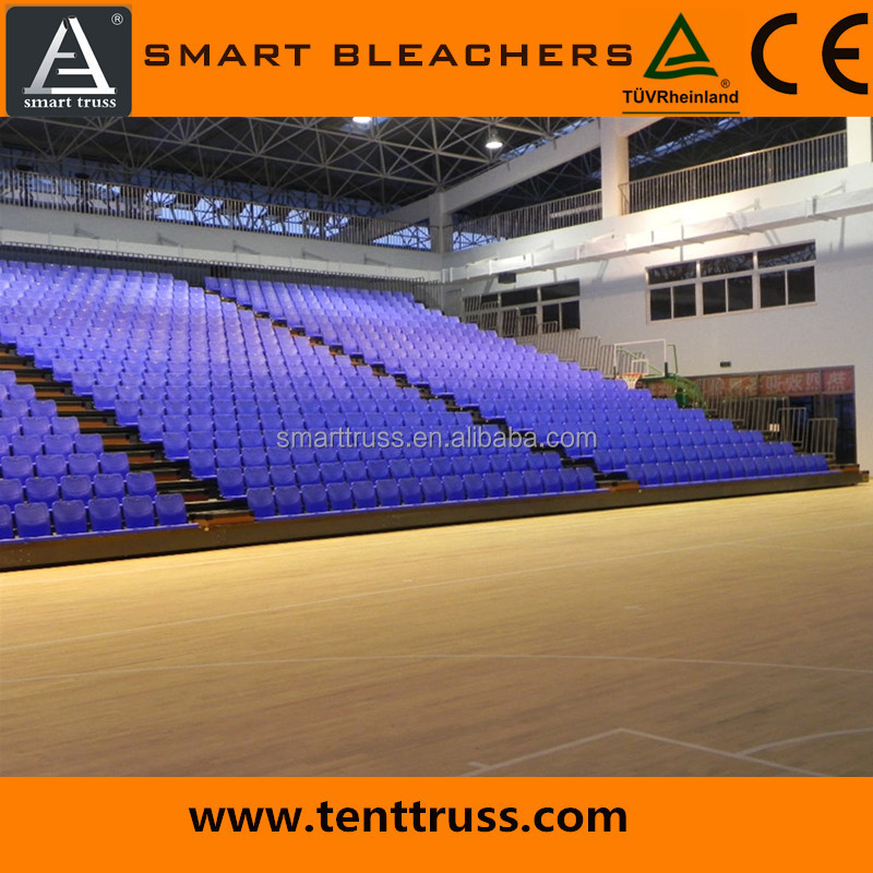 electrical telescopic seating, retractable bleachers seating,gym bleachers seating