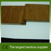 Engineered strand woven carbonized bamboo flooring