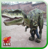 Adult raptor robotic dinosaur mascot costume