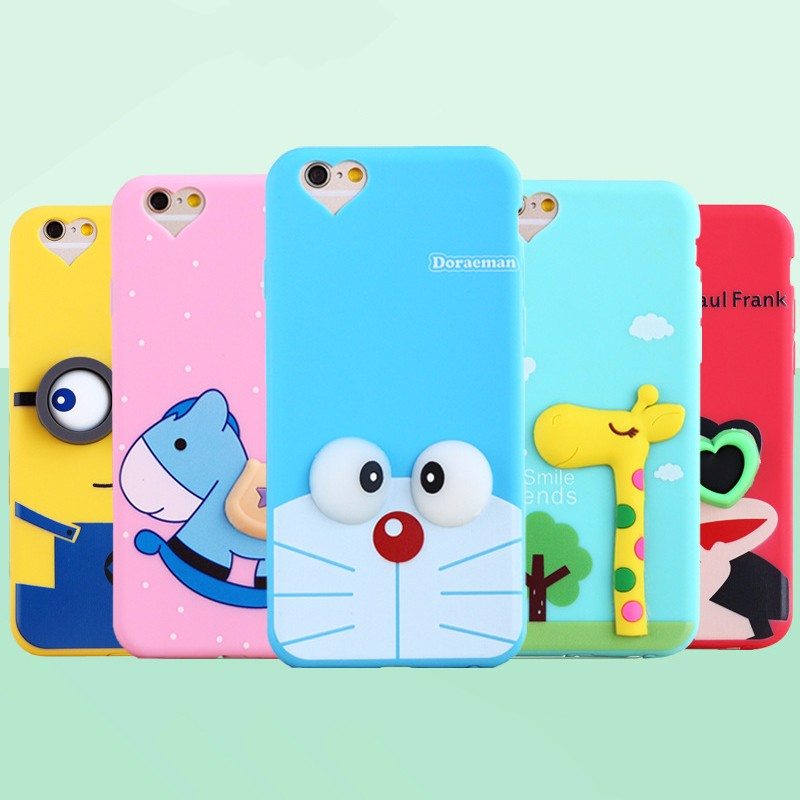 Cute cartoon silicone mobile phone shell case cover