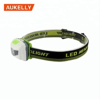 Aukelly Multifunction White Red Warning Light Mini Led Headlamp head light