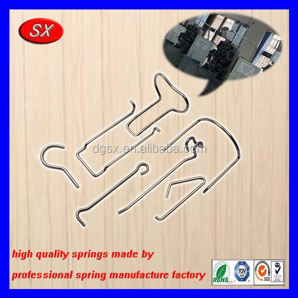 customized wire bending parts stainless steel wire form spring precision toy special shaped metal spring card buckle