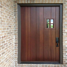 Teak wood with glass door modern design high quality door