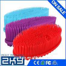 Shower Massage Brush Silicone Scalp Massage Brush Hair Washing Comb Body Shower Brush Bathroom Products