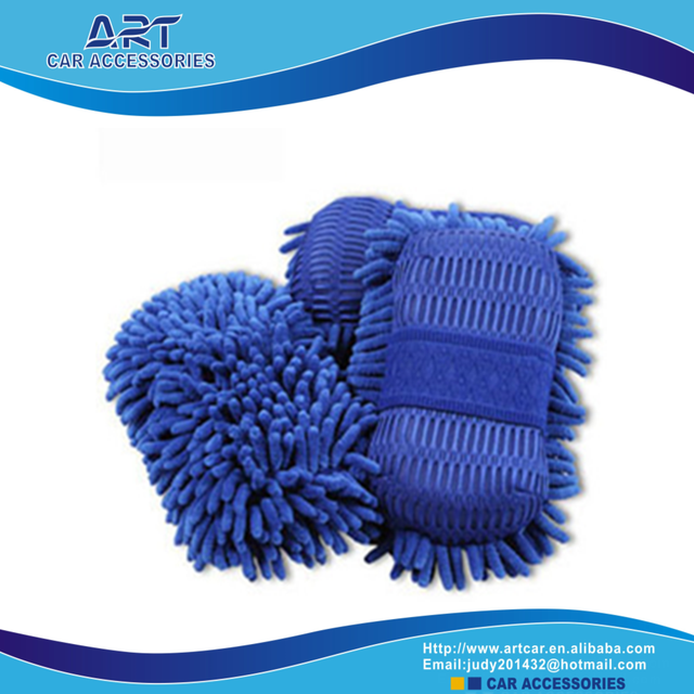 microfiber car cleaning wash chenille sponge