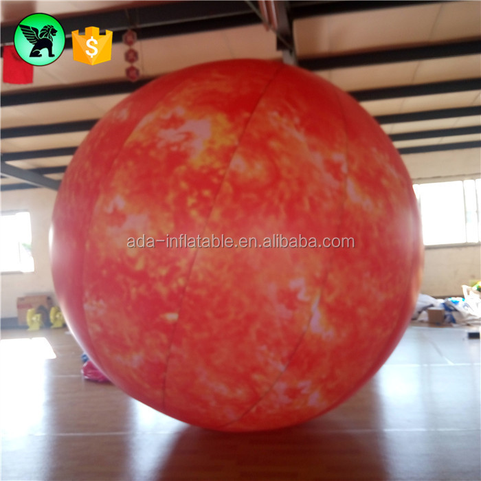 Christmas Festival Inflatable Planet Sphere Giant Sun Inflatable Customized Sun Ball Inflatable Balloon / Nine Planet A774
