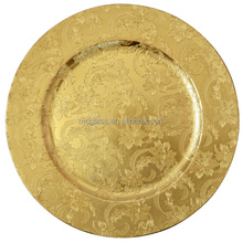 MC glassware wholesale decorative hard plastic plate for restaurant