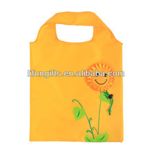 2017 New fashion new style foldable shopping bag sunflower shopping bag