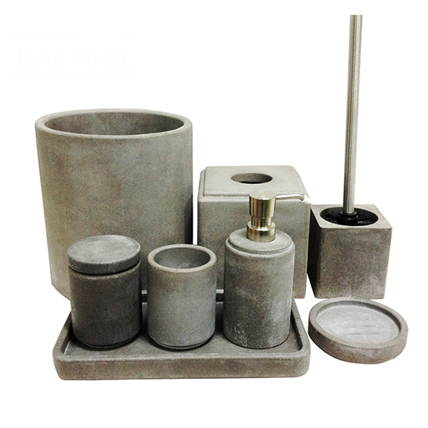 Concrete bathroom design wc toilet 8 pcs sets bathroom accessories