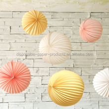 15cm 20cm 30cm PINK WHITE IVORY Paper Balloon Accordion Lanterns Assorted Paper Party Lanterns WEDDING Hanging Party Decor