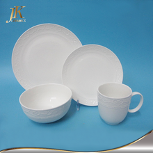 Good Quality white crockery sale 16 piece dinnerware sets clearance buy dinner set online