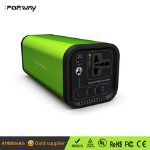 Camping Backup Solar Energy 41600mAh High Capacity Power Station With AC Outlet Portable Solar Power Generator