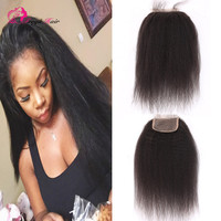Factory wholesale 4*4 Free/Middle/Three Part Virgin Brazilian Human Hair Lace Closure