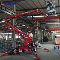 8m Hydraulic towable articulated spider lift for sale