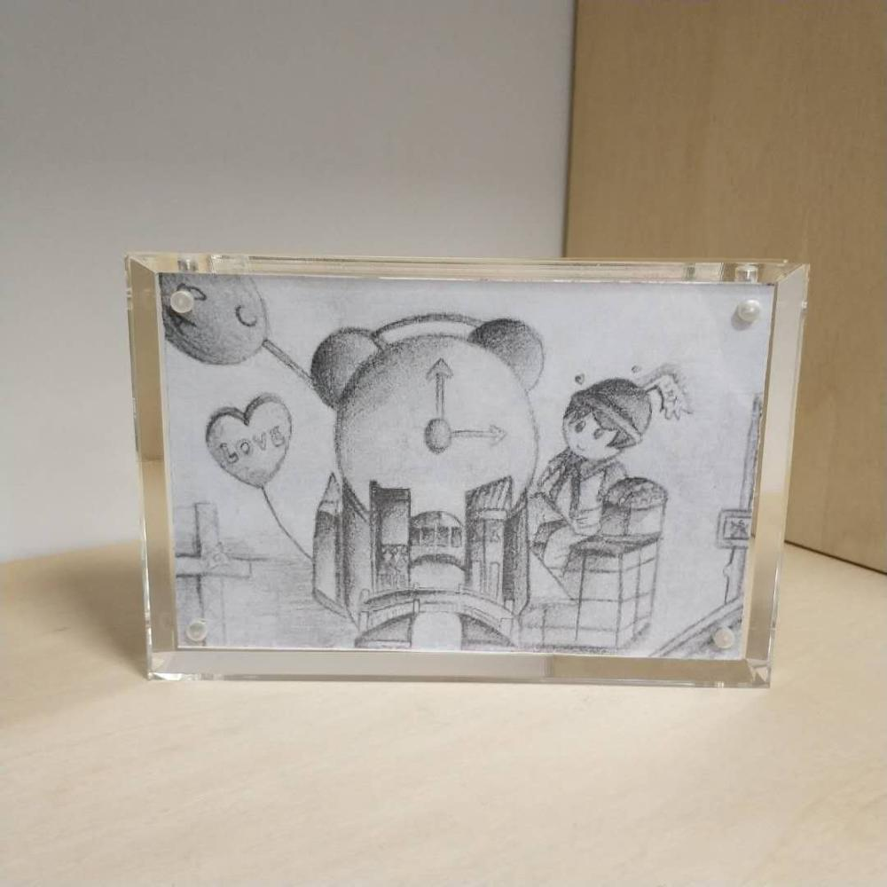 Customized acrylic magnetic picture frame acrylic photo frame