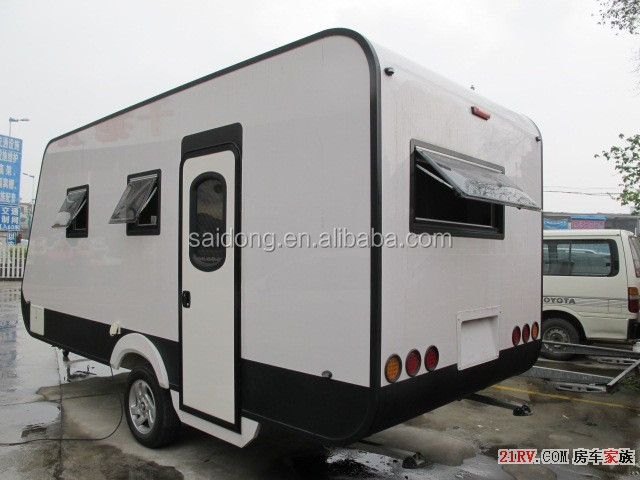 Fiberglass Material Travel Trailer, Travel Trailer Camper Trailer Use off-Road Caravan