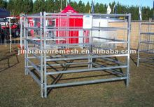 Hot dip galvanized 6- rail horse fence