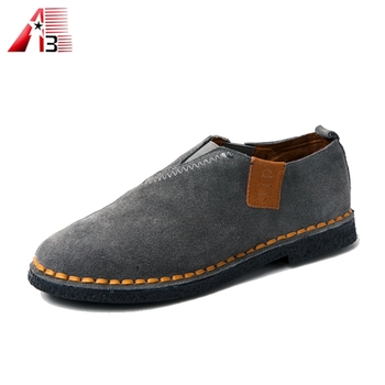 2017 New loafers leather men casual shoes