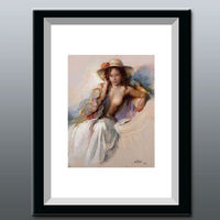 European classical style nude woman on canvas painting, decorative wall painting upscale hotel